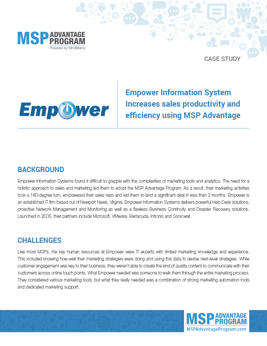 Empower-Information-System-Increases-sales-productivity-and-efficiency-using-MSP-Advantage